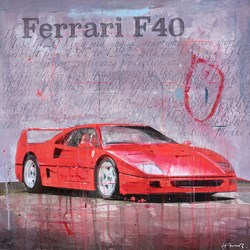 Red Ferrari F40 by Markus Haub -  sized 24x24 inches. Available from Whitewall Galleries